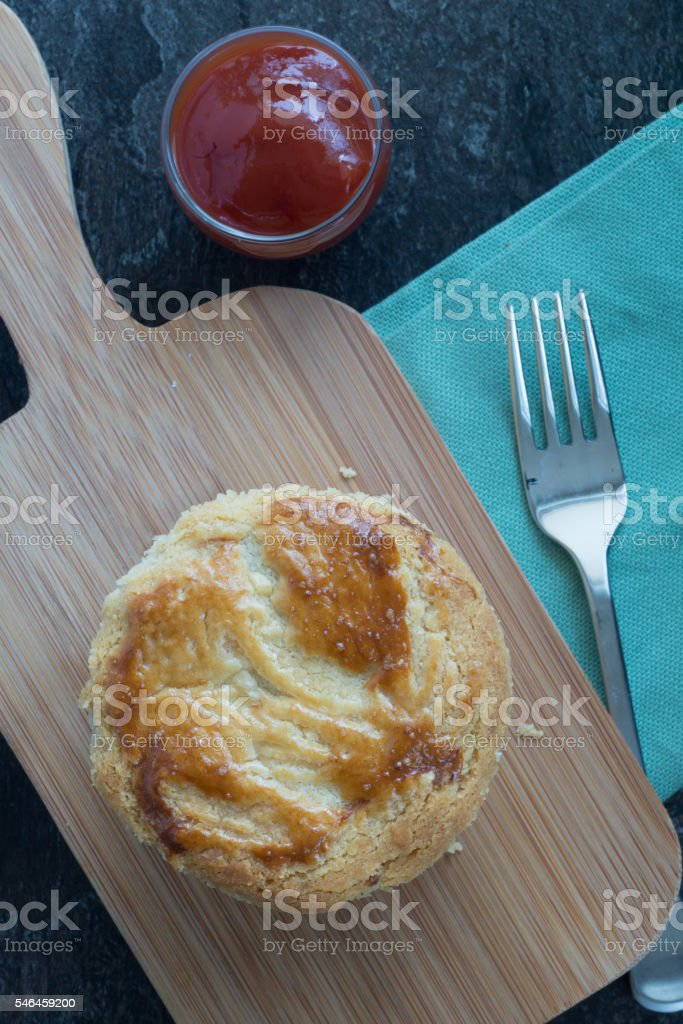 Empada de Palmito (Palm Hearts Pie) stock photo
