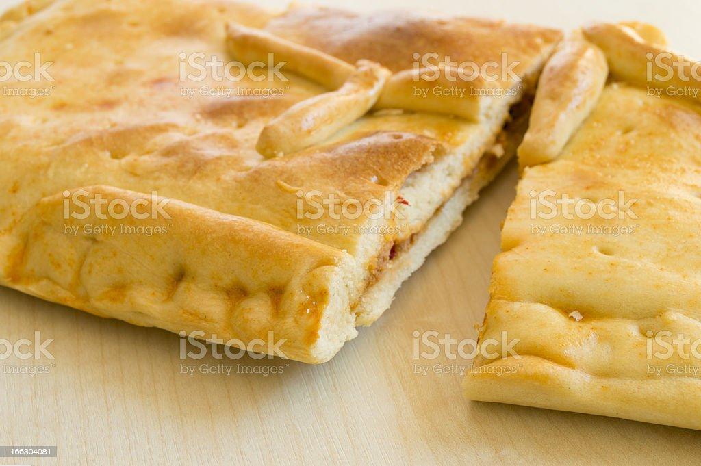 empanada gallega stock photo