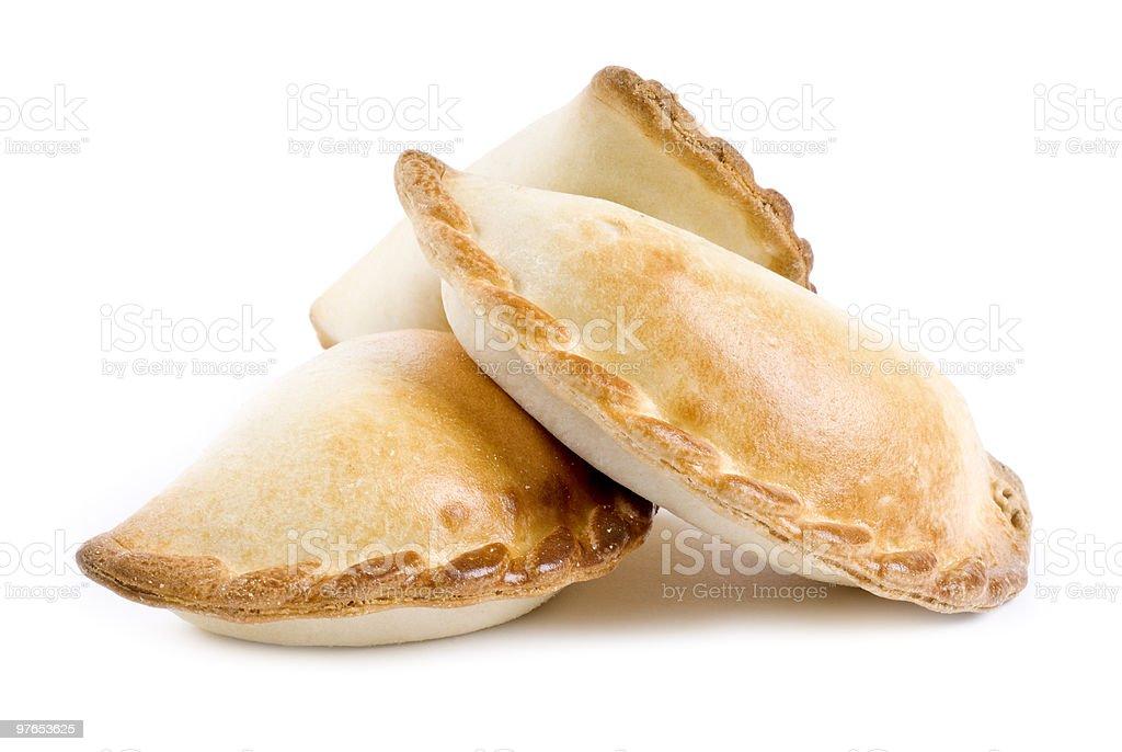 Empanada Isolated on White royalty-free stock photo