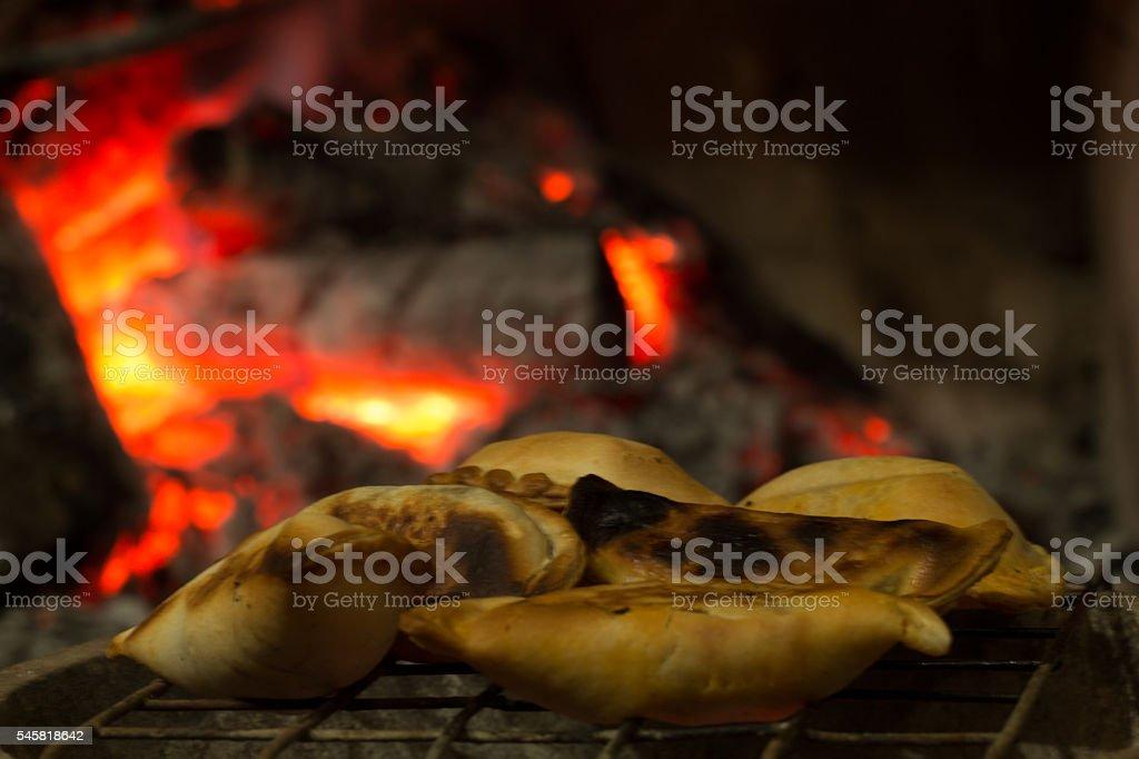 empanadas asadas stock photo