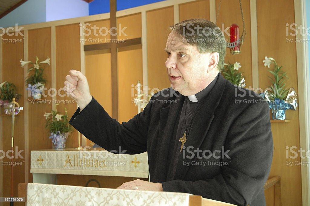 Empassioned Sermon stock photo