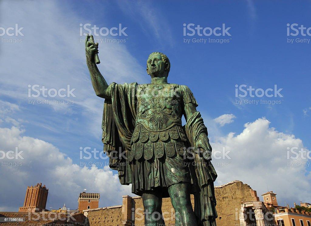 Emperor Caesar Augustus Nerva monument stock photo