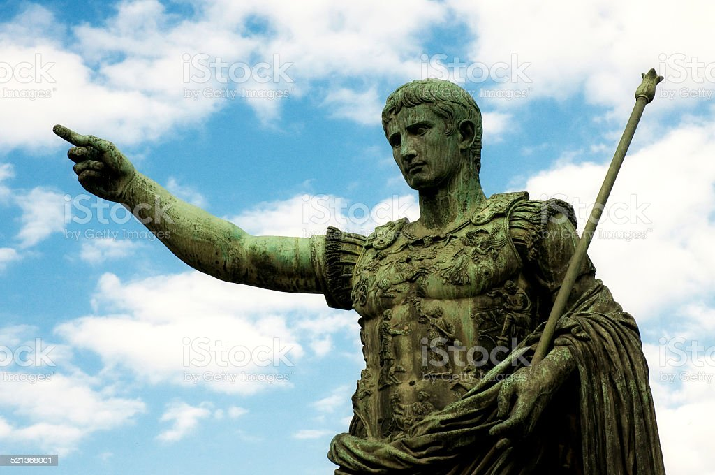 Emperor Caesar Augustus stock photo
