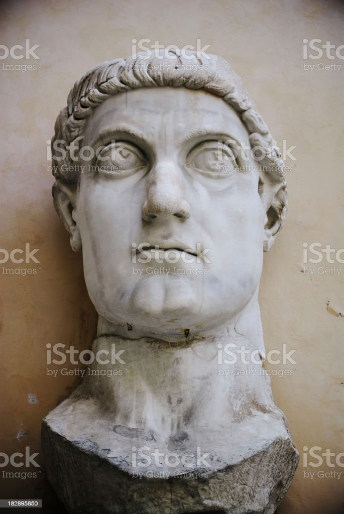 Emperor Constantine II in the Capitoline Museums Rome Italy stock photo