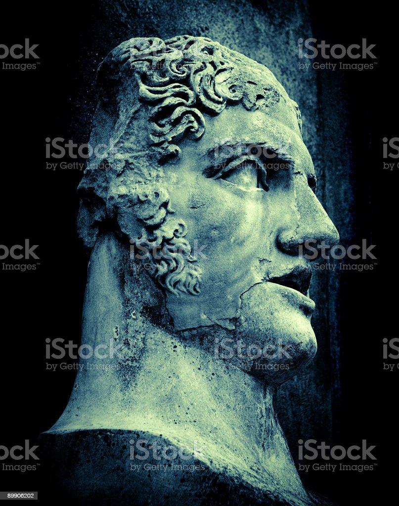 emperor head stock photo