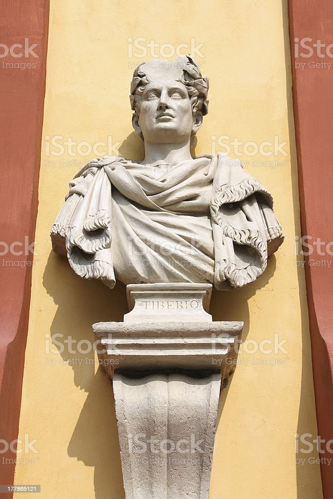 Emperor of Rome Tiberius stock photo