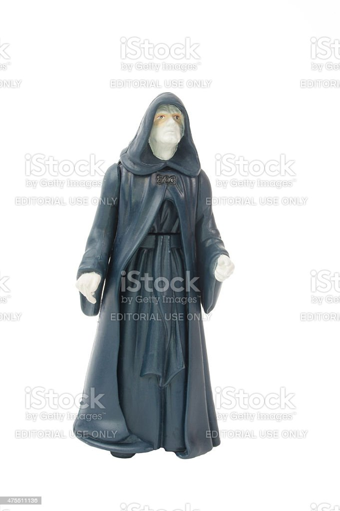 Emperor Palpatine Action Figure stock photo
