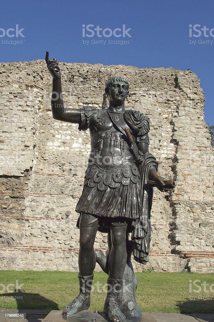 Emperor Trajan monument stock photo