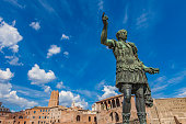 Emperor Trajan statue, in front of the Trajan's Markets