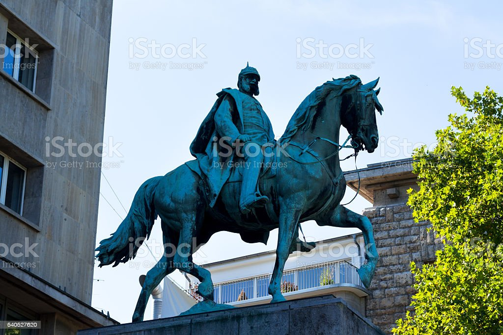 Emperor Wilhelm I monument in Essen stock photo