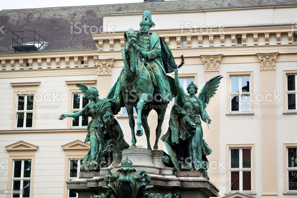 Emperor Wilhelm I monument stock photo