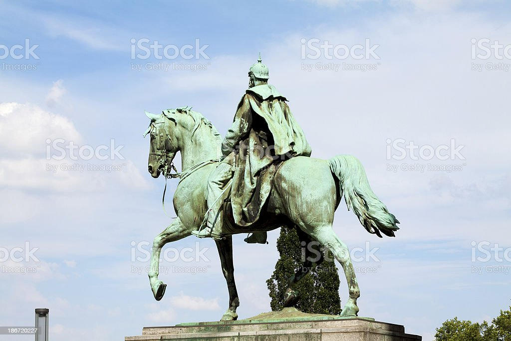 Emperor Wilhelm I stock photo