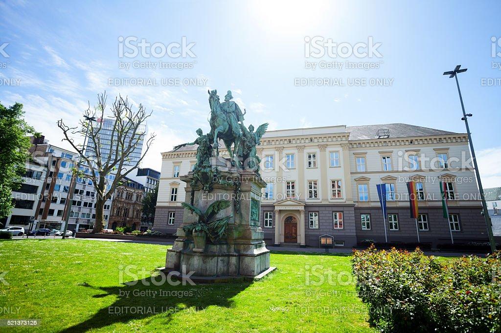 Emperor Wilhelm monument stock photo
