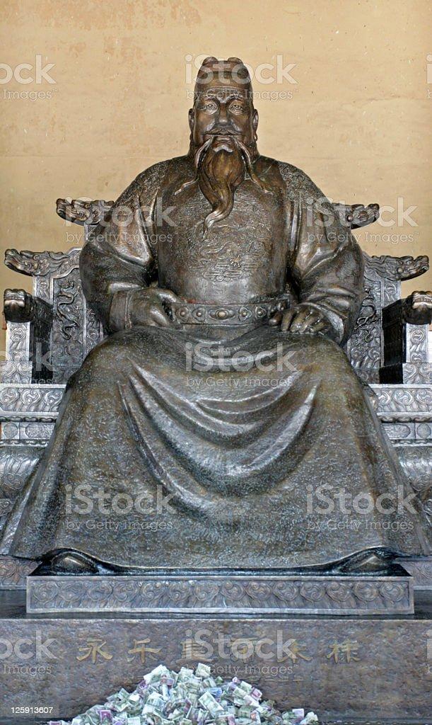 Emperor Zhu Di, Ming Tomb, China royalty-free stock photo