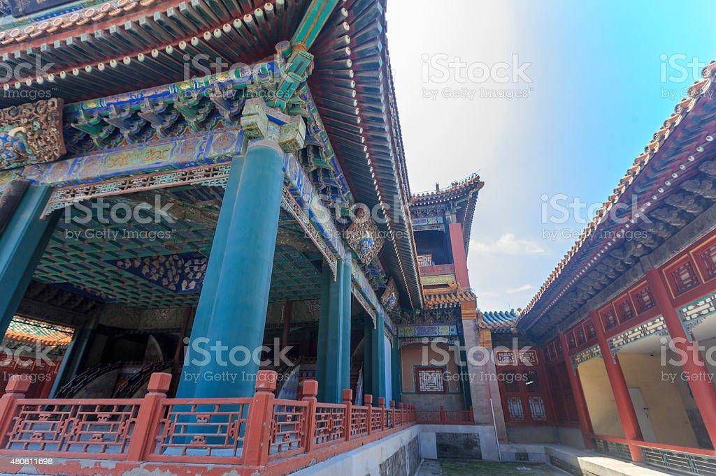 Empior's Theater in Forbidden City, Beijing stock photo