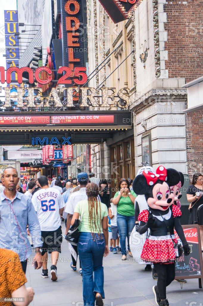 AMC Empire 25 Theater 42nd Street stock photo