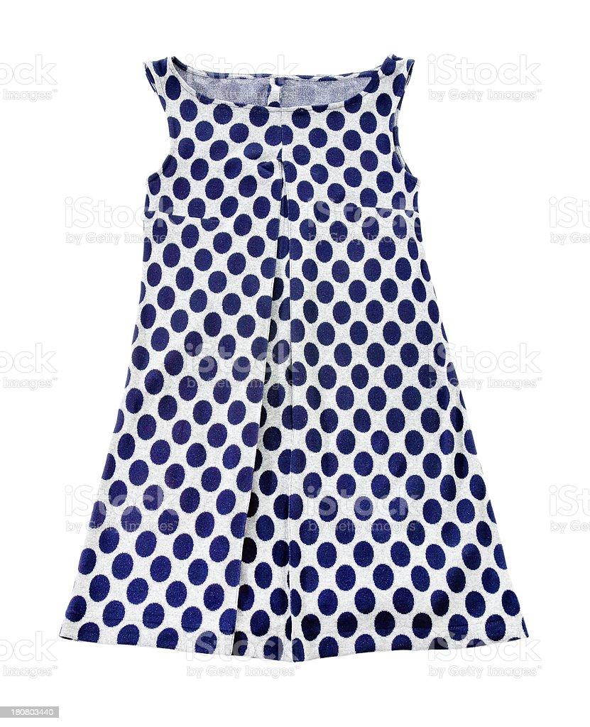 Empire line polka dots tank dress royalty-free stock photo