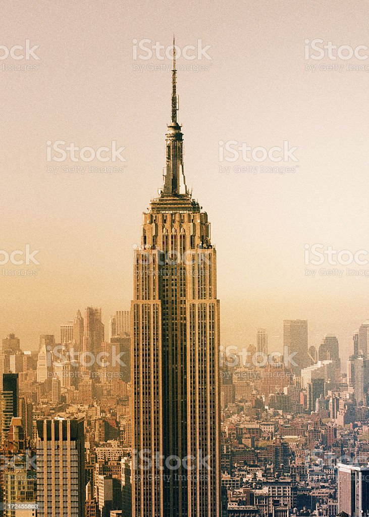 Empire Skyline,NYC. stock photo