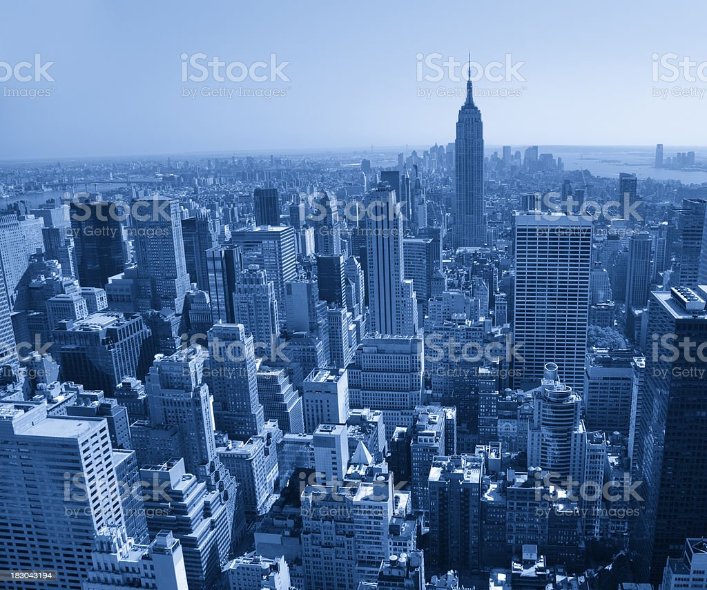 empire stat building new york bird's eye view of manhattan royalty-free stock photo