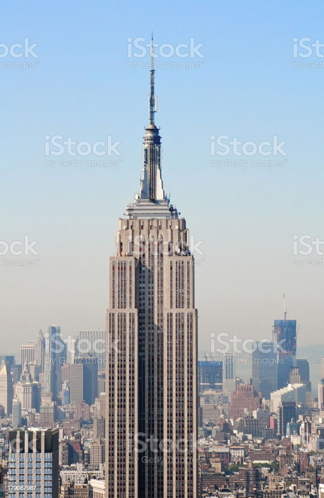 Empire state and midtown royalty-free stock photo