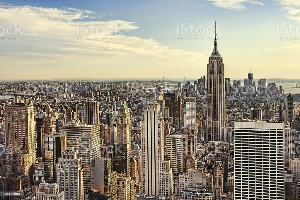 Empire State Building and midtown New York City royalty-free stock photo
