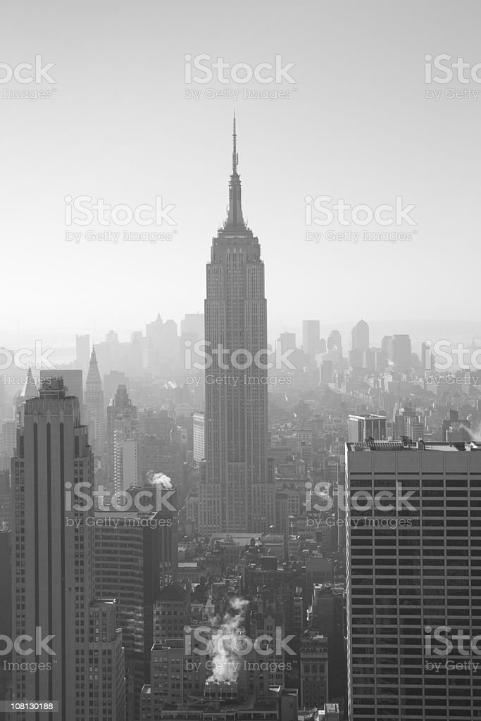 Empire State Building and New York City royalty-free stock photo