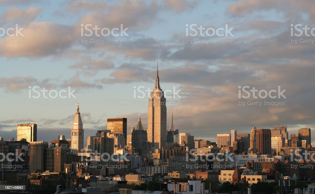 Empire State Building at Dusk royalty-free stock photo