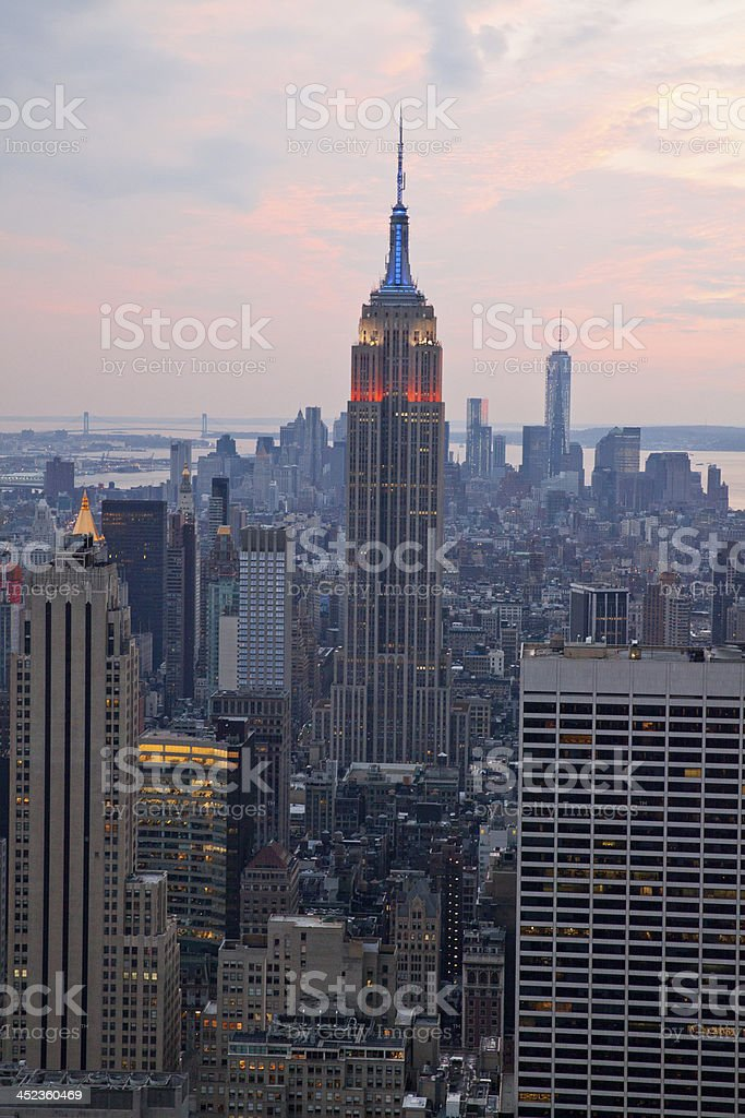 Empire State building at Manhattan royalty-free stock photo