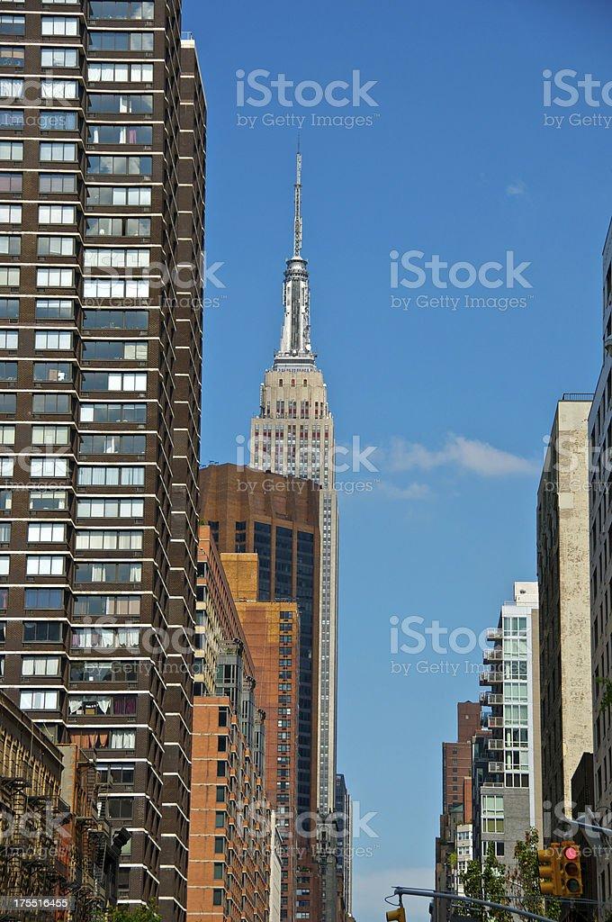 'Empire State Building Cityscape, E.34th St, Manhattan, New York' stock photo