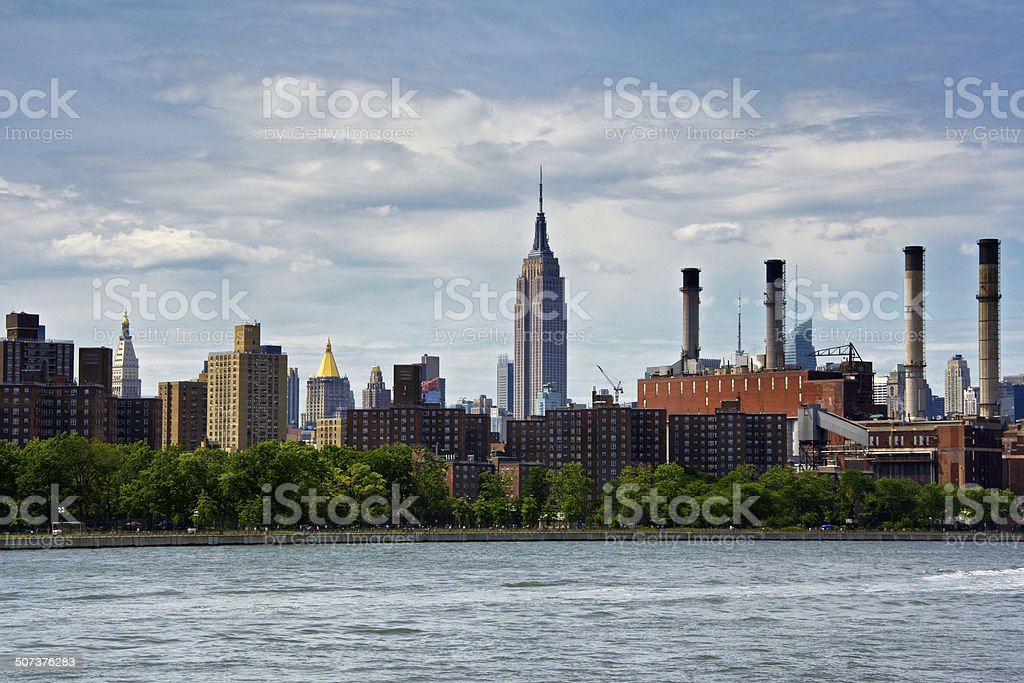 Empire State Building Cityscape, East River, Manhattan, New York City royalty-free stock photo