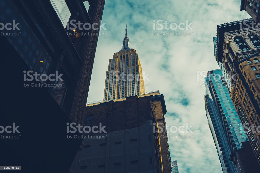 Empire State Building from Fifth Avenue stock photo