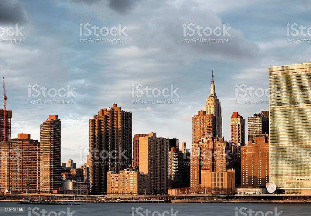Empire State Building in Manhattan Skyline stock photo
