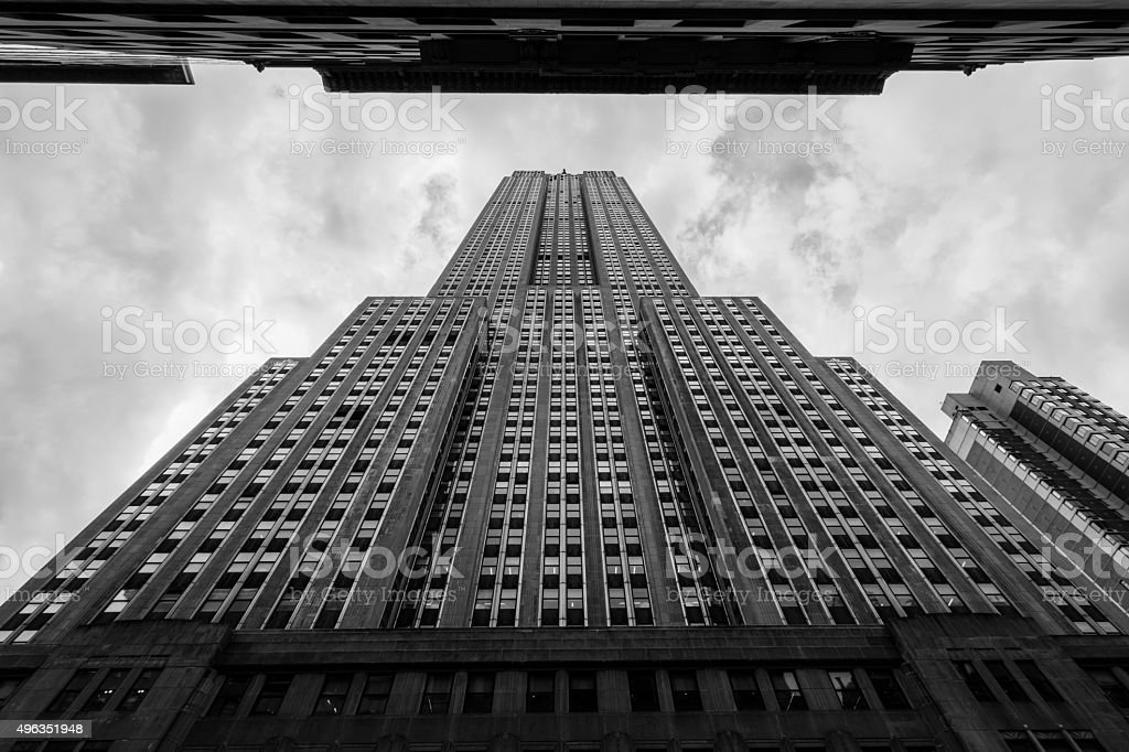 Empire State Building in New York City stock photo