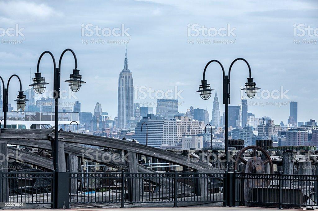 Empire State Building New York City Urban Cityscape Skyline stock photo