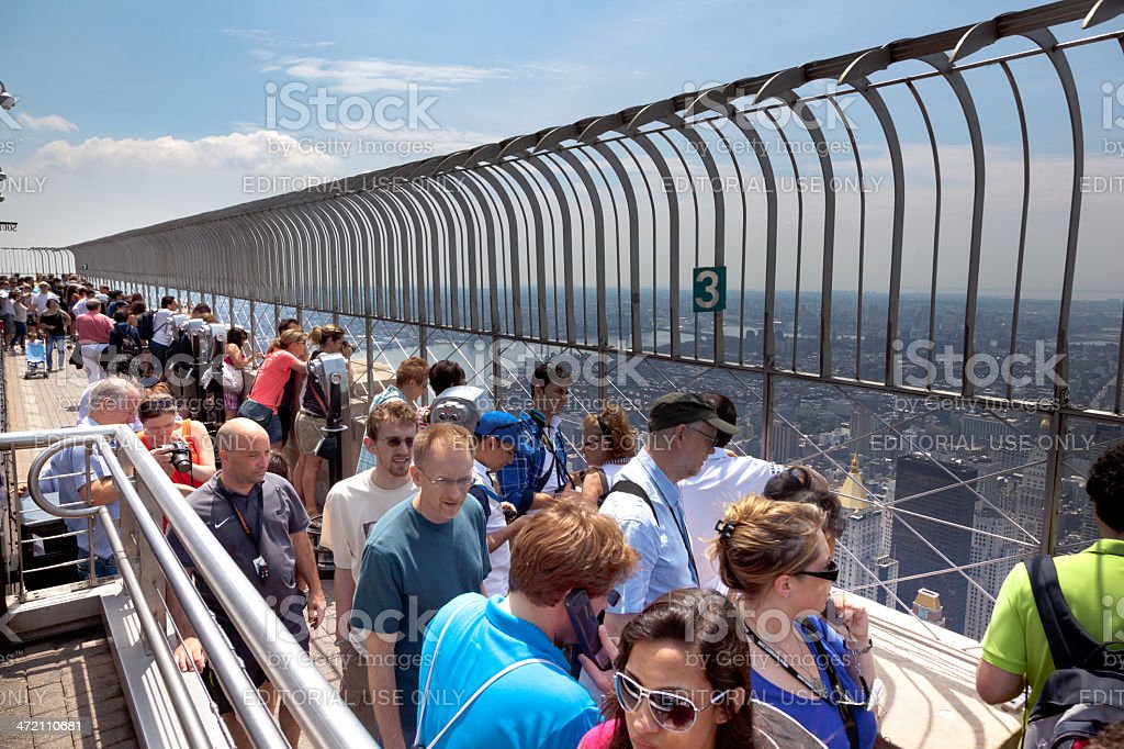 Empire State Building Observation Deck stock photo
