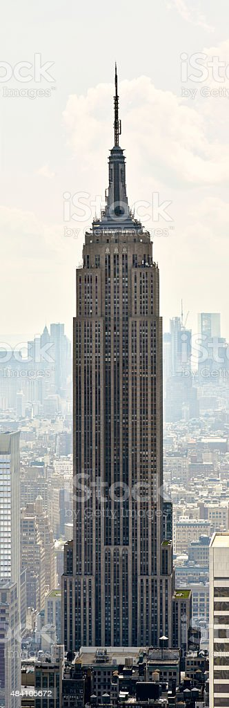 Empire State Building panorama stock photo