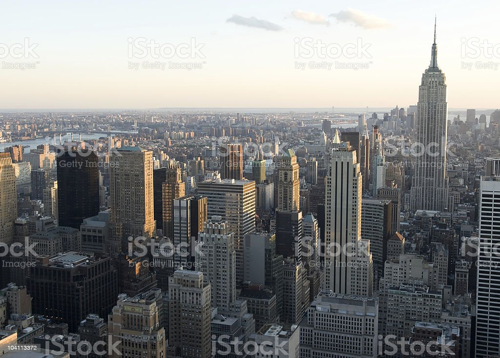 Empire State Building Sunset royalty-free stock photo