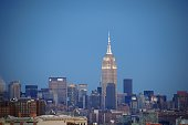 Empire State Building view from Jersey City