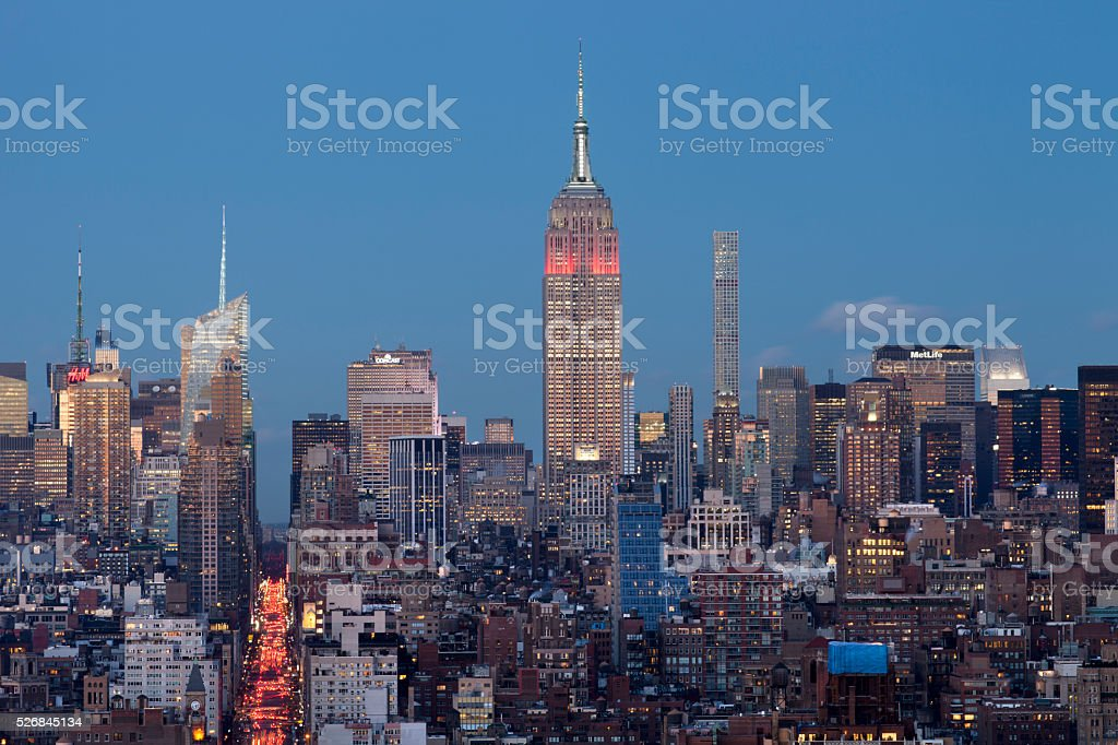 NYC Empire State Dusk stock photo