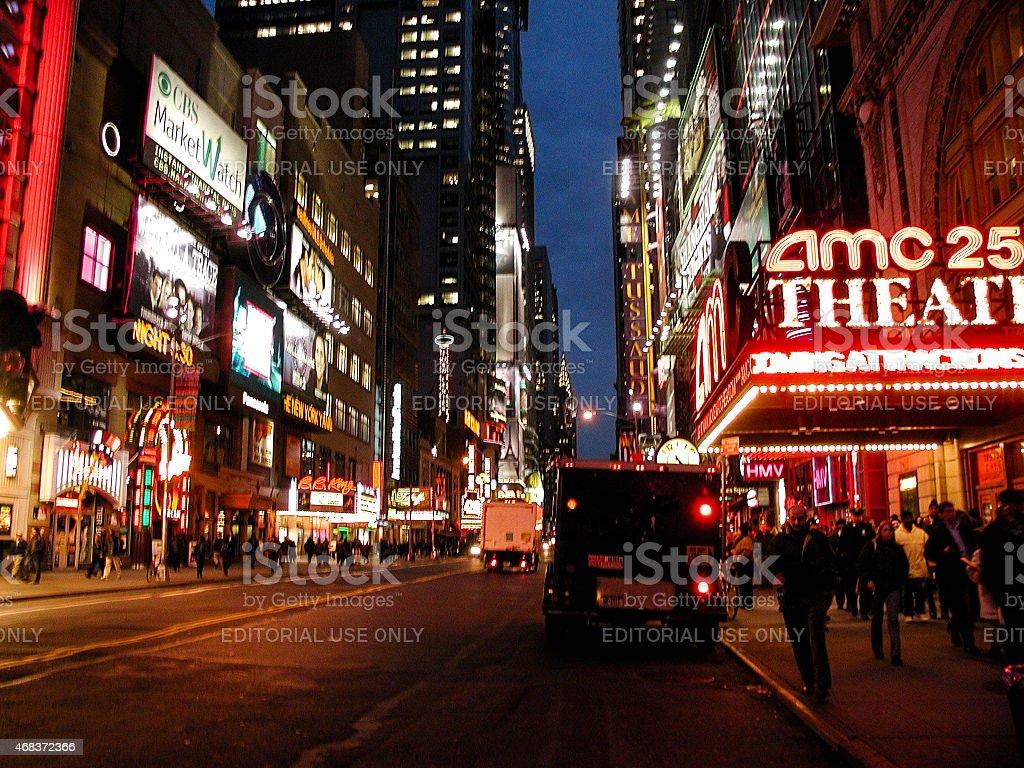 AMC 25 Empire Theater in Times Square stock photo