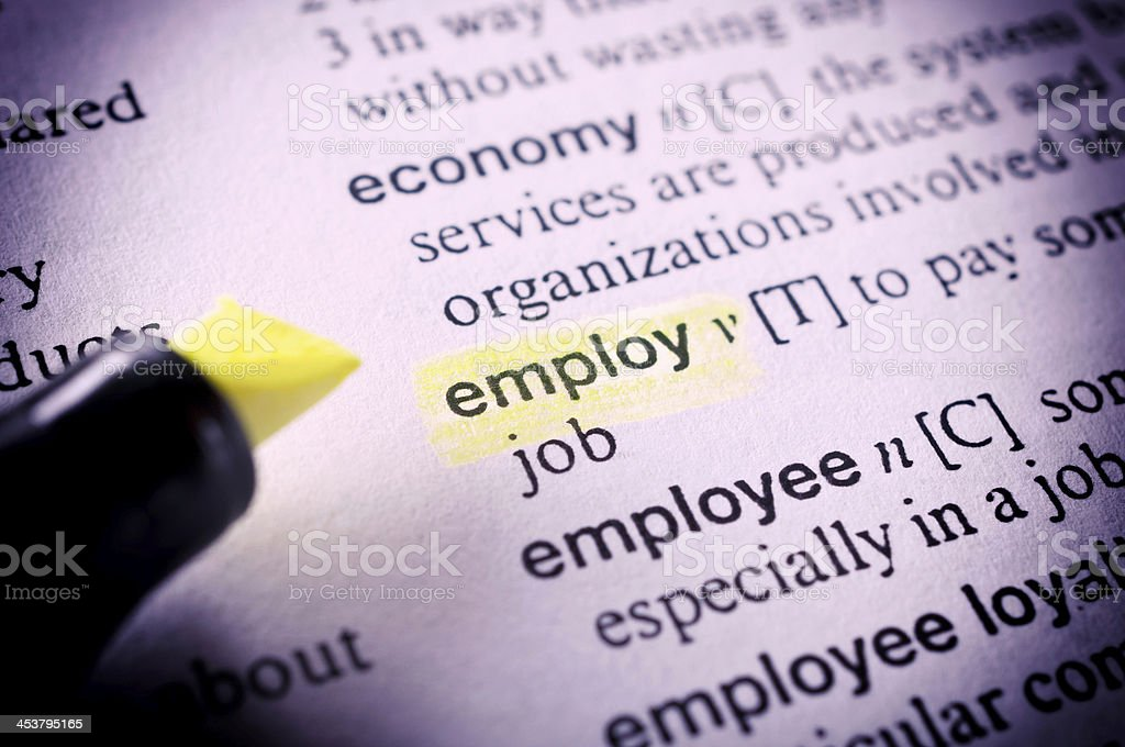 Employ word royalty-free stock photo
