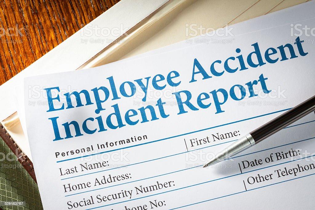 Employee Accident Report stock photo