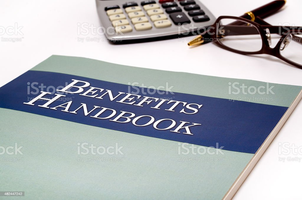Employee Benefits handbook stock photo