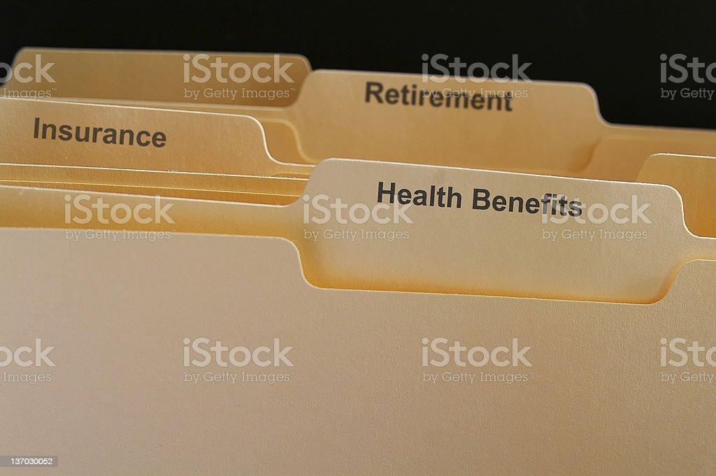 Employee benefits stock photo