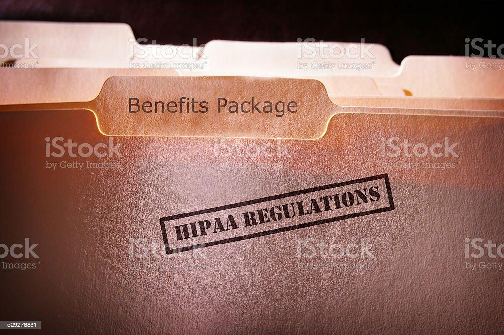 HIPAA Employee Benefits stock photo