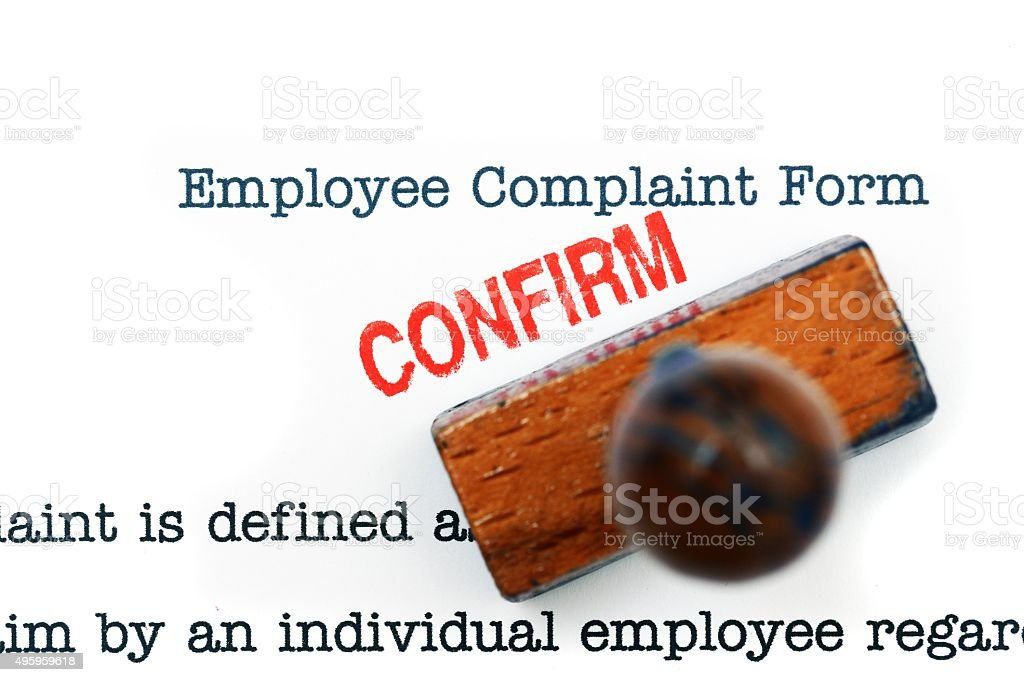 Employee Complaint Form Confirm Stock Photo 495959618 | Istock