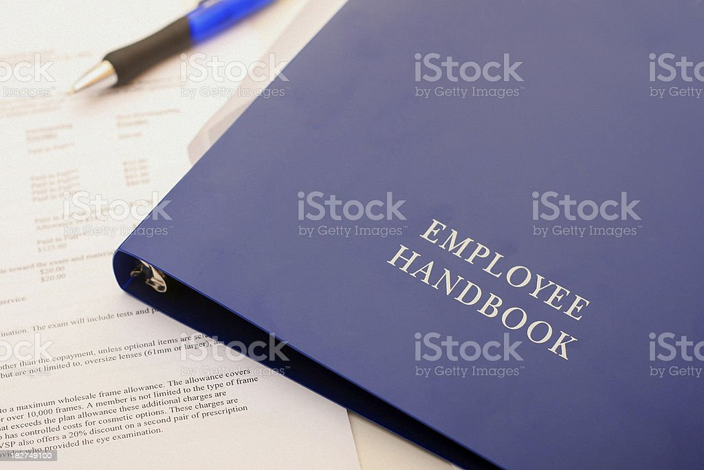 Employee Handbook and Forms royalty-free stock photo