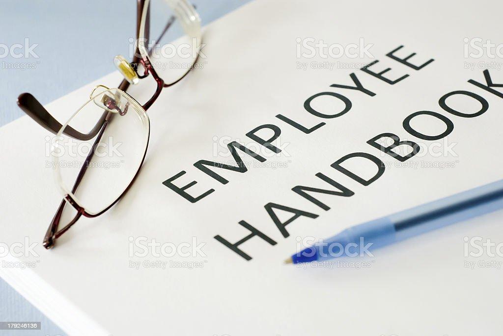 employee handbook stock photo