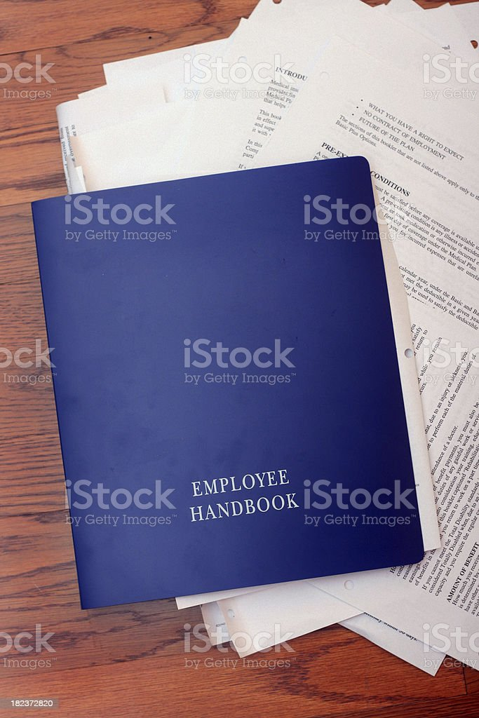 Employee Handbook stock photo