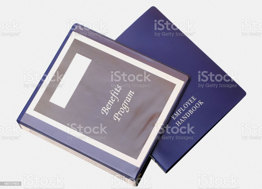 Employee Handbook - White Background stock photo